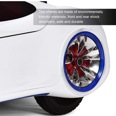 Future Concept 12V Kids Ride On Car with Remote Control | WHITE Cars & SUVs Costway