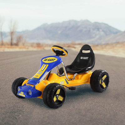 Go Kart Kids Ride On Car Pedal Powered Car 4 Wheel Racer Toy Stealth Outdoor Go Kart Costway
