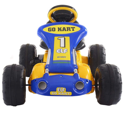Go Kart Kids Ride On Car Pedal Powered Car 4 Wheel Racer Toy Stealth Outdoor Go Kart Costway Yellow