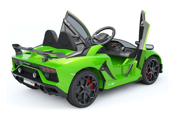 LAMBORGHINI AVENTADOR SVJ LICENSED 1-SEATER 12V KIDS RIDE-ON CAR W/ REMOTE IN GREEN - FREE SHIPPING