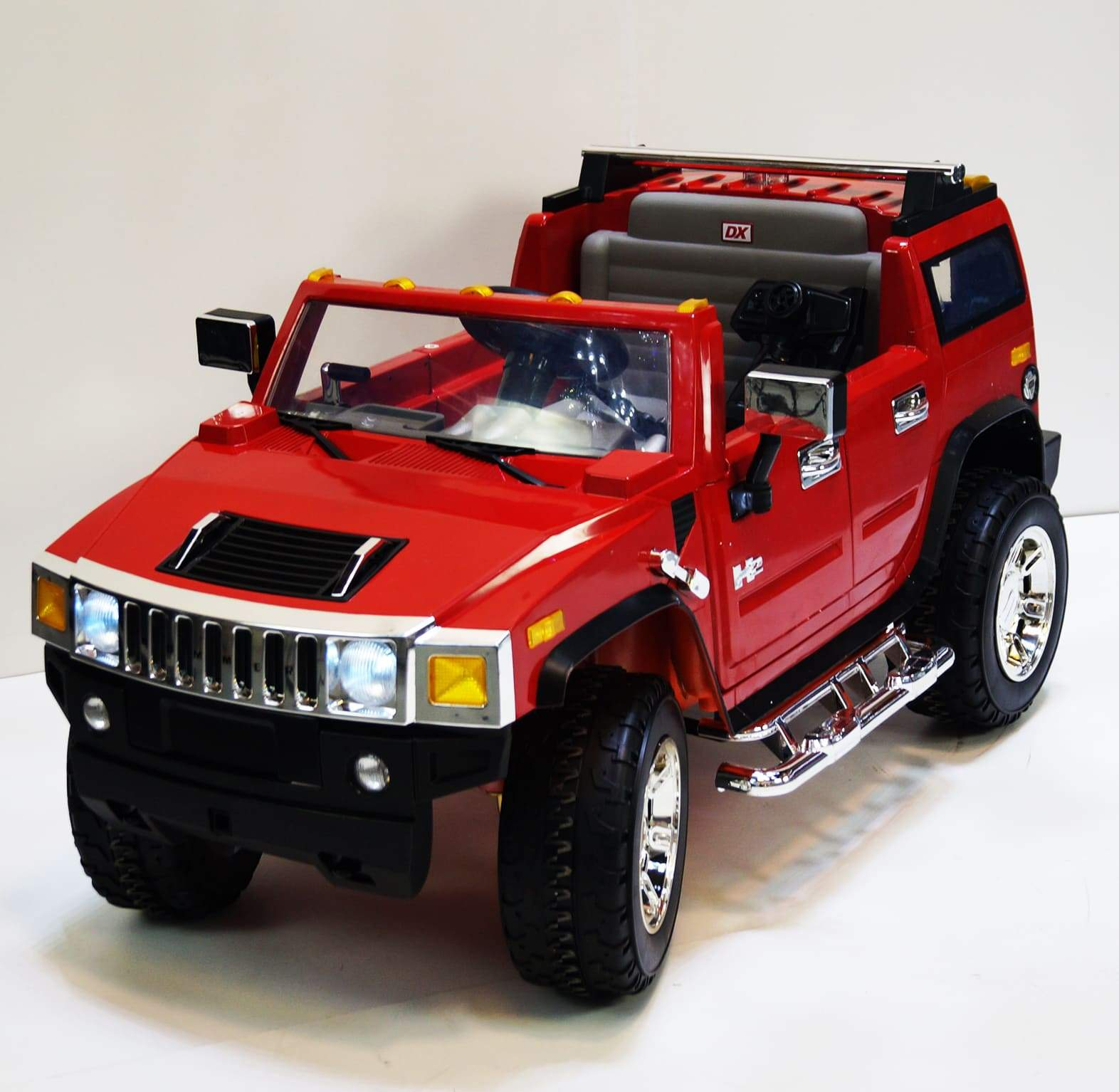 HUMMER H2 INSPIRED 12V KIDS ELECTRIC RIDE-ON CAR WITH R/C PARENTAL REMOTE | Red Cars & SUVs Mini Motos