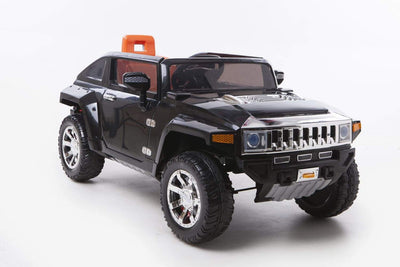HUMMER HX LICENSED 12V KIDS ELECTRIC RIDE-ON CAR WITH R/C PARENTAL REMOTE | Black Cars & SUVs Mini Motos