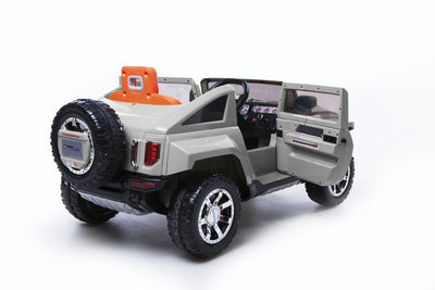 HUMMER HX LICENSED 12V KIDS ELECTRIC RIDE-ON CAR WITH R/C PARENTAL REMOTE | Silver Cars & SUVs Mini Motos