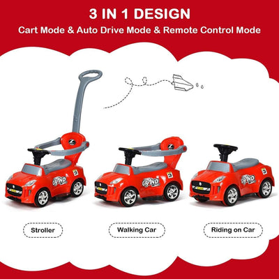 Kids Electric Ride On Car Toddler Push Car Stroller Push Car Costway