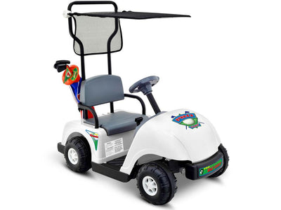 Kid's Golf Cart Ride-On Car 6v with Golf Bag and Clubs | White Golf Cart NPL