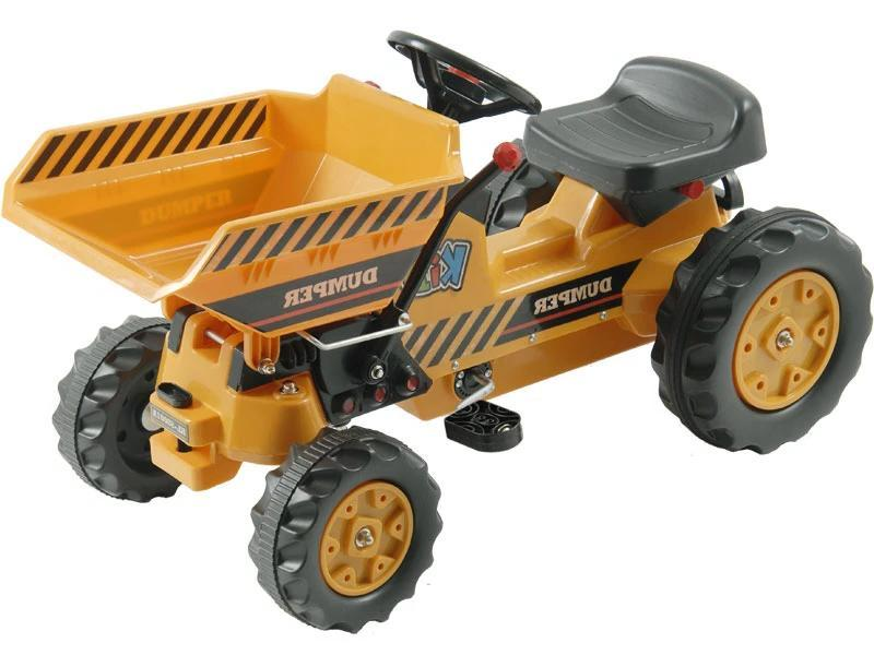 Kid's Ride-On Dump Tractor Pedal | Yellow Tractors Kalee