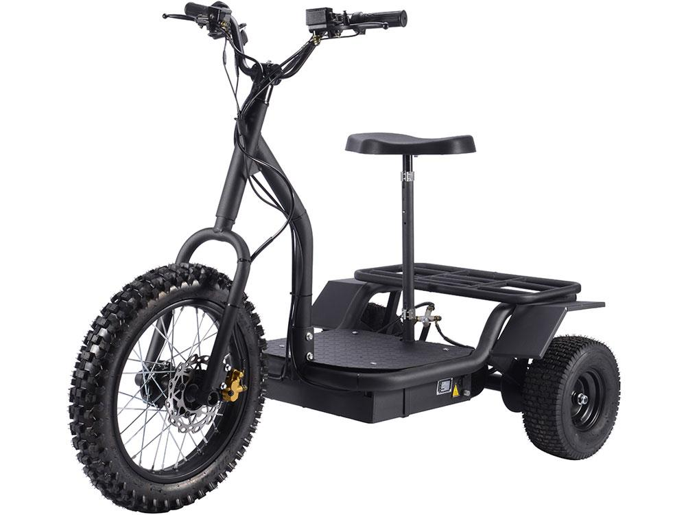 Kid's Ride-On Electric Trike 48v 1200w | Black Electric Trike MotoTec