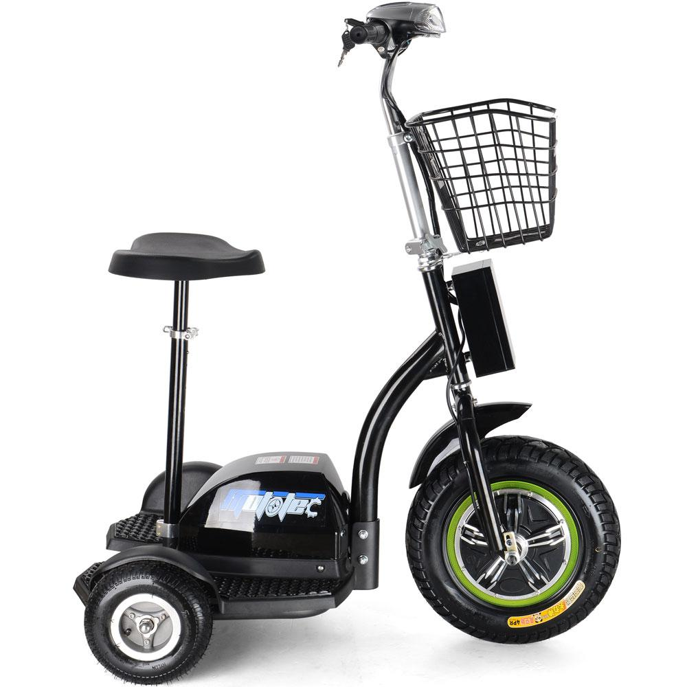 Kid's Ride-On Electric Trike 48v 500w | Black Electric Trike MotoTec