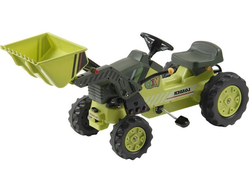 Kid's Ride-On Pedal Loader Tractor | Green Tractors Kalee