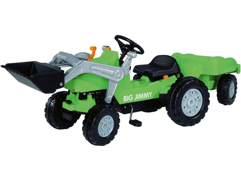 Kid's Ride-On Pedal Trailer Tractor | Green Tractors Big