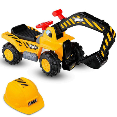 Kids Toddler Ride on Excavator Digger Truck Scooter Digger Costway