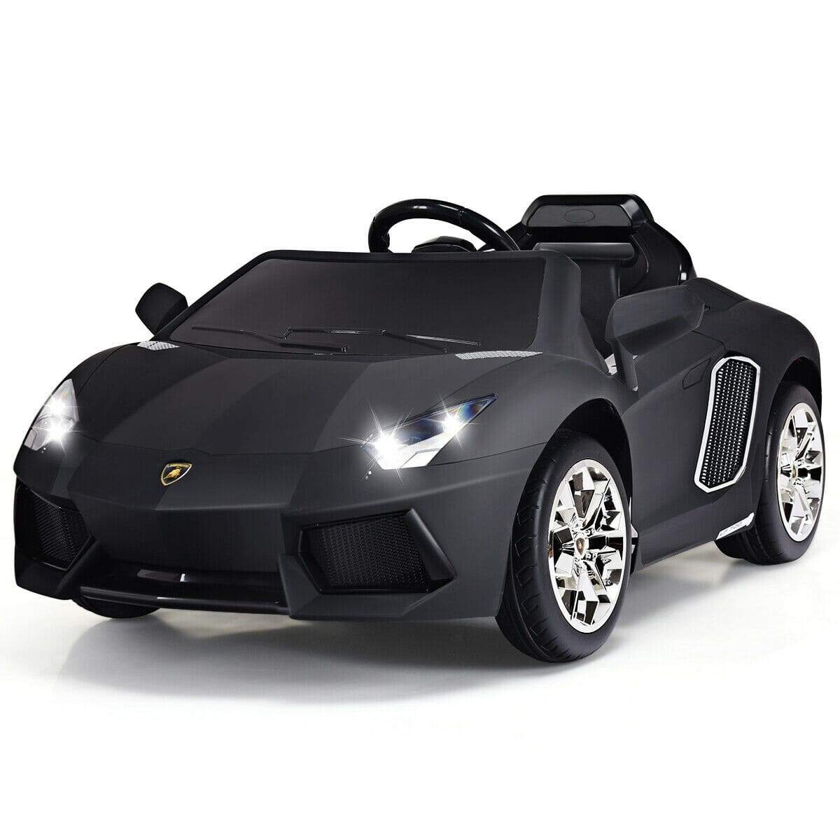 Lamborghini AVENTADOR Licensed 12V Electric Kids Ride On Car | Black - FREE SHIPPING Cars & SUVs Costway