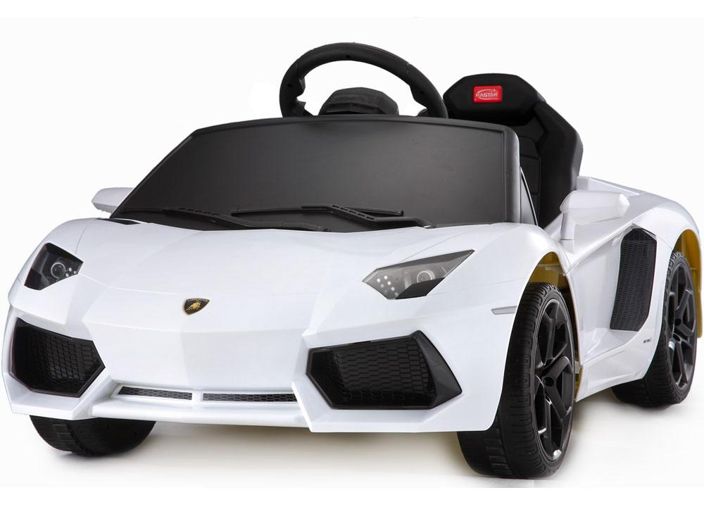 LAMBORGHINI AVENTADOR LICENSED 6V RIDE-ON KIDS CAR | WHITE Cars & SUVs Rastar