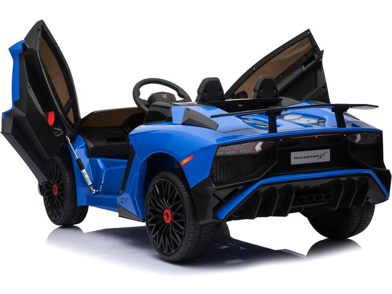 Lamborghini Aventador SV Roadster Licensed 1-SEATER 12v Kids Ride-On Car w/ Remote in Blue - Free Shipping