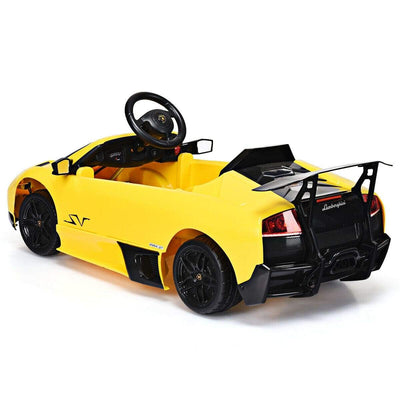 LAMBORGHINI MURCIELAGO LICENSED 12V ELECTRIC KIDS RIDE ON CAR | YELLOW - FREE SHIPPING Cars & SUVs Costway