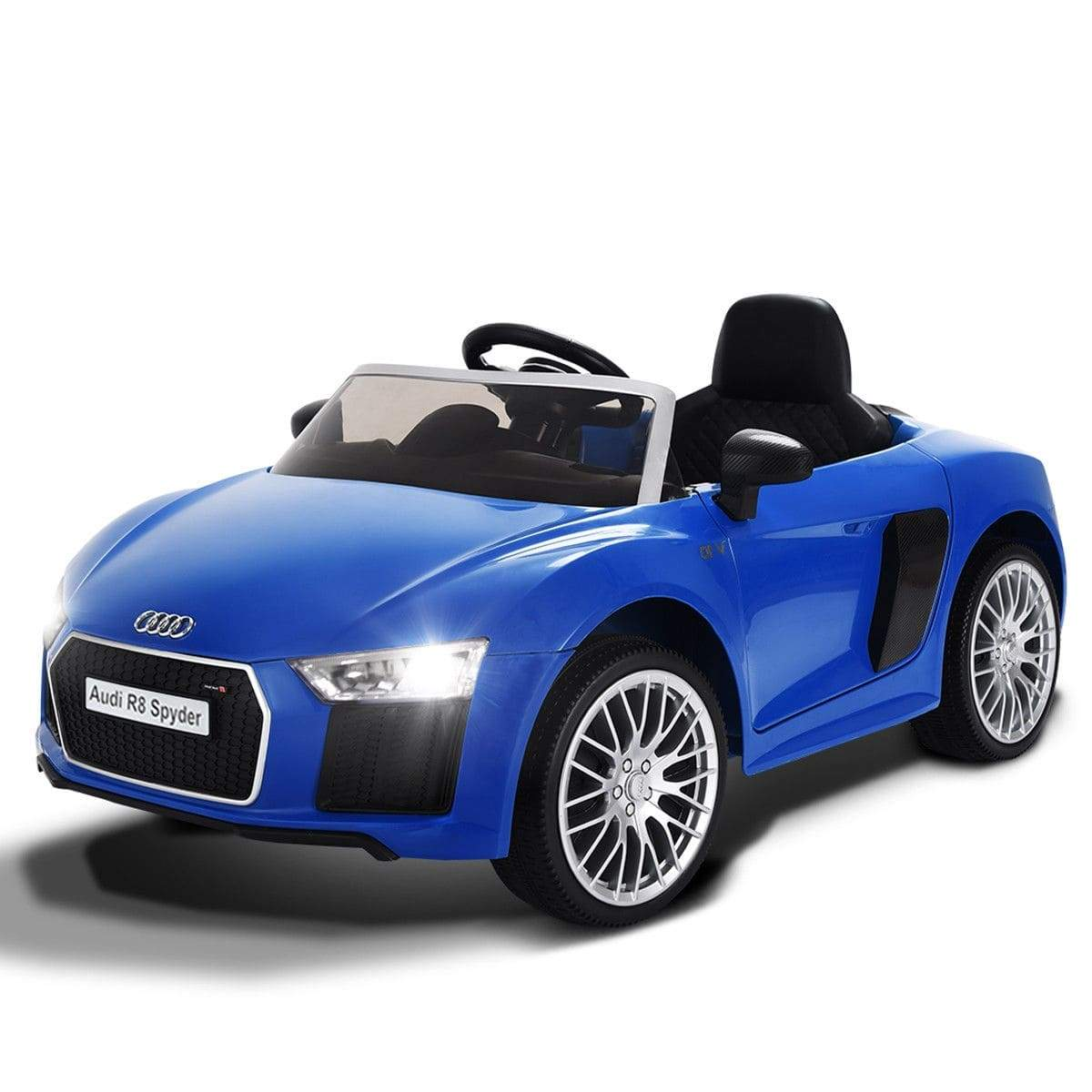 Licensed Audi R8 Spyder 12V Electric Kids Ride-On Car with Remote Control - FREE SHIPPING Cars & SUVs Costway Blue