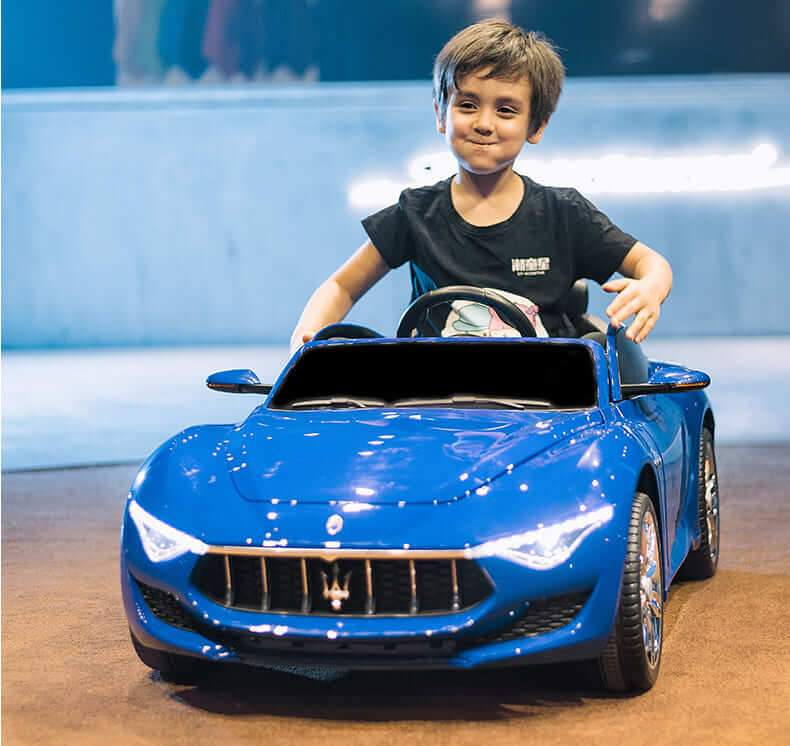MASERATI ALFIERI INSPIRED 12V RIDE-ON KIDS CAR | BRILLIANT BLUE Cars & SUVs Mini Motos