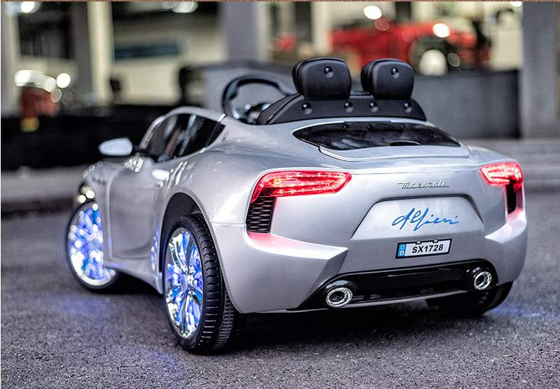 MASERATI Alfieri Inspired 12V RIDE-ON KIDS CAR | SILVER Cars & SUVs Mini Motos