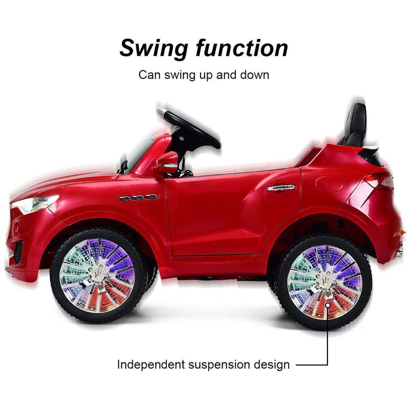 Maserati Levante 6V Licensed Kids Ride On Car with Remote Control - FREE SHIPPING Cars & SUVs Costway Red