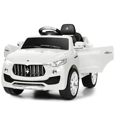 Maserati Levante 6V Licensed Kids Ride On Car with Remote Control - FREE SHIPPING Cars & SUVs Costway White