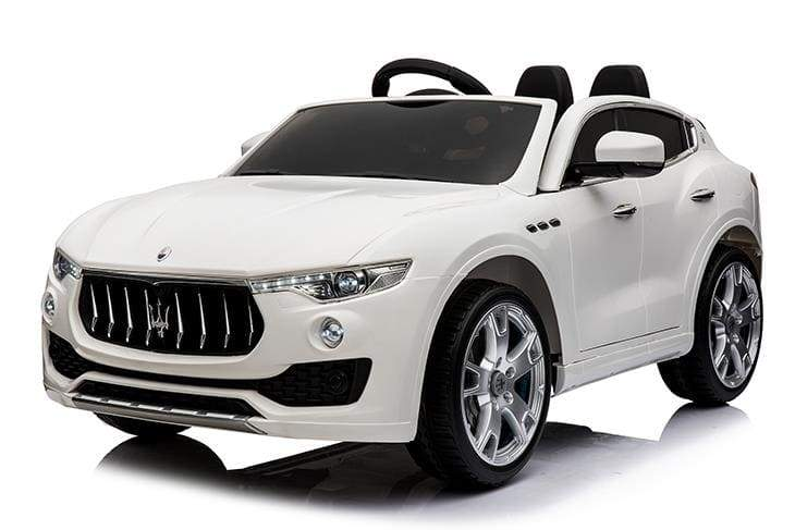 MASERATI LEVANTE SUV LICENSED 12V KIDS RIDE-ON CAR W/ REMOTE | WHITE Cars & SUVs Mini Motos