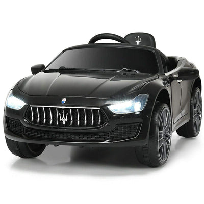 Maserati Quattroporte Licensed 12V Kids Ride On Car with Remote Control - FREE SHIPPING Cars & SUVs Costway Black