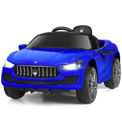 Maserati Quattroporte Licensed 12V Kids Ride On Car with Remote Control - FREE SHIPPING Cars & SUVs Costway Blue