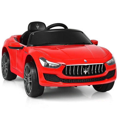 Maserati Quattroporte Licensed 12V Kids Ride On Car with Remote Control - FREE SHIPPING Cars & SUVs Costway Red