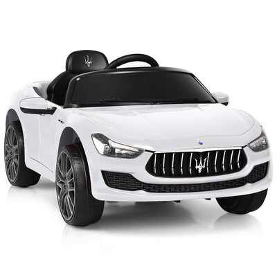Maserati Quattroporte Licensed 12V Kids Ride On Car with Remote Control - FREE SHIPPING Cars & SUVs Costway White
