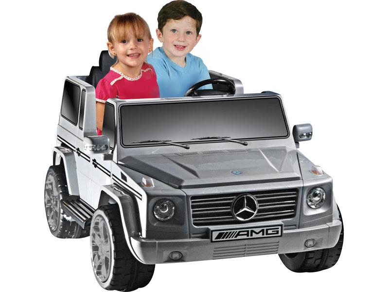 Mercedes Benz G55 AMG Licensed 12v KIDS ELECTRIC RIDE-ON CAR WITH R/C PARENTAL REMOTE | GREY Cars & SUVs NPL