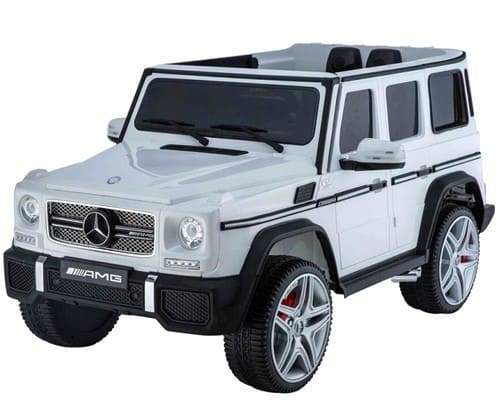 Mercedes Benz G65 AMG Licensed 12v Kids Electric Ride-on Car | White Cars & SUVs Mini Motos
