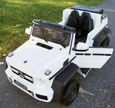 MERCEDES BENZ G65 AMG SX1888 6-wheels LICENSED 12V KIDS ELECTRIC RIDE-ON CAR | WHITE Cars & SUVs Mini Motos