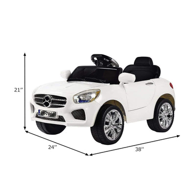 Mercedes Benz Inspired 6V Kids Electric Powered Ride On Car with Remote Control - FREE SHIPPING Cars & SUVs Costway