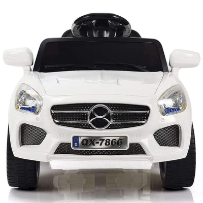 Mercedes Benz Inspired 6V Kids Electric Powered Ride On Car with Remote Control - FREE SHIPPING Cars & SUVs Costway White