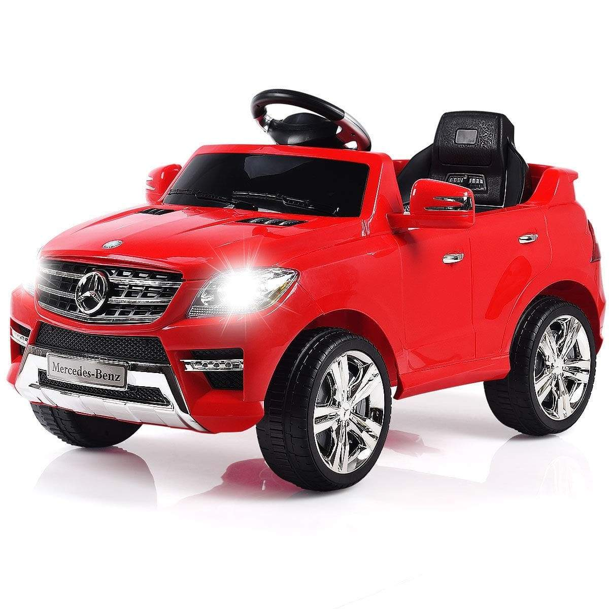 Mercedes Benz ML350 Licensed 6V Kids Ride on Car with Remote Control - FREE SHIPPING Cars & SUVs Costway Red