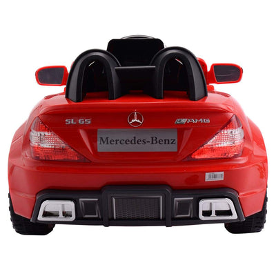 Mercedes-Benz SL65 Licensed 12V Kids Ride on Car with Music and Remote Control | Red - FREE SHIPPING Cars & SUVs Costway