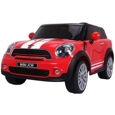 Mini Cooper Inspired 12V Electric Kids Ride-On Car with Remote Control Cars & SUVs Costway Red