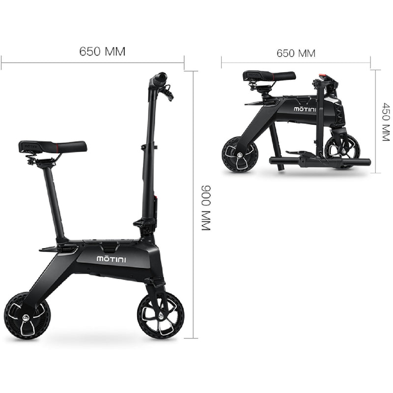 Motini Nano 36v 250w Lithium Kid's Ride-On Electric Scooter Black Electric Scooter Motini
