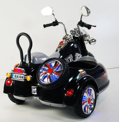 Motorcycle For Kid Model SX138 Electric Battery Operated 3 Wheels - Black Motorbike Mini Motos