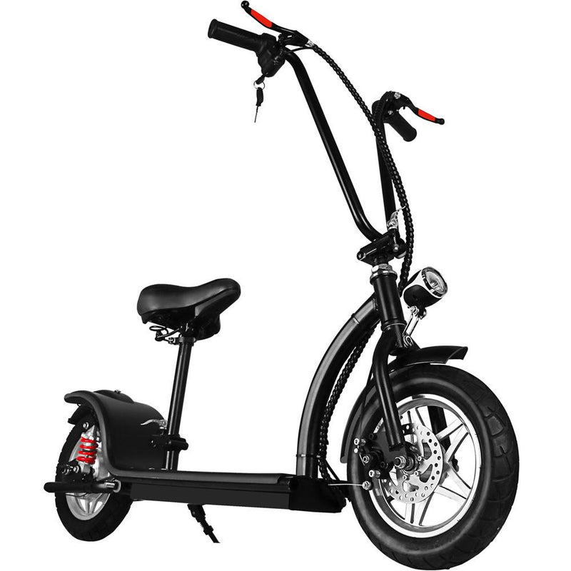 MotoTec 36v 350w Lithium Folding Kid's Ride-On Electric Scooter Black Electric Scooter MotoTec
