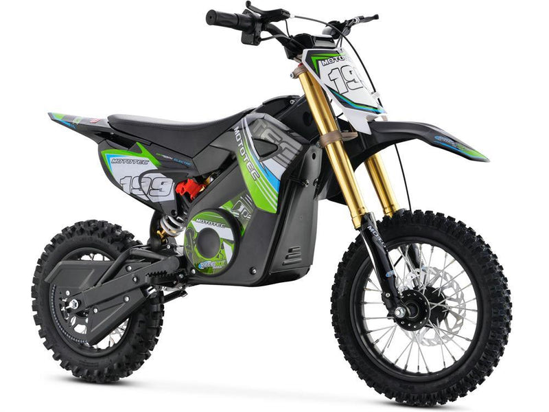 MotoTec 36v Pro Kid's Ride-On Electric Dirt Bike 1000w Lithium Green Dirt Bike MotoTec