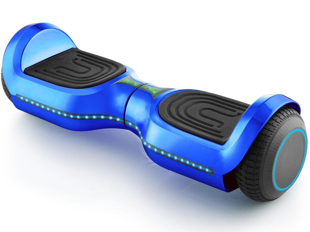 MotoTec Kid's Ride-On Hoverboard 24v 6.5in Wheel L17 Pro Blue Hoverboard MotoTec
