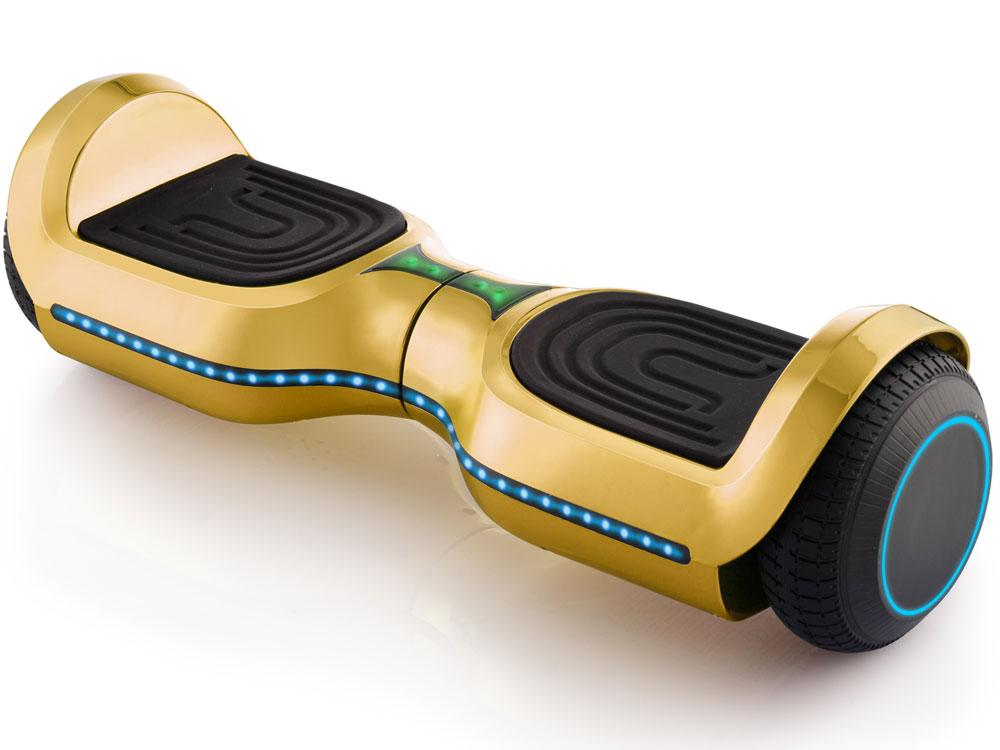 MotoTec Kid's Ride-On Hoverboard 24v 6.5in Wheel L17 Pro Gold Hoverboard MotoTec