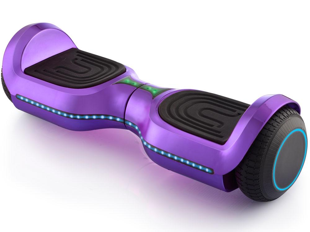 MotoTec Kid's Ride-On Hoverboard 24v 6.5in Wheel L17 Pro Purple Hoverboard MotoTec