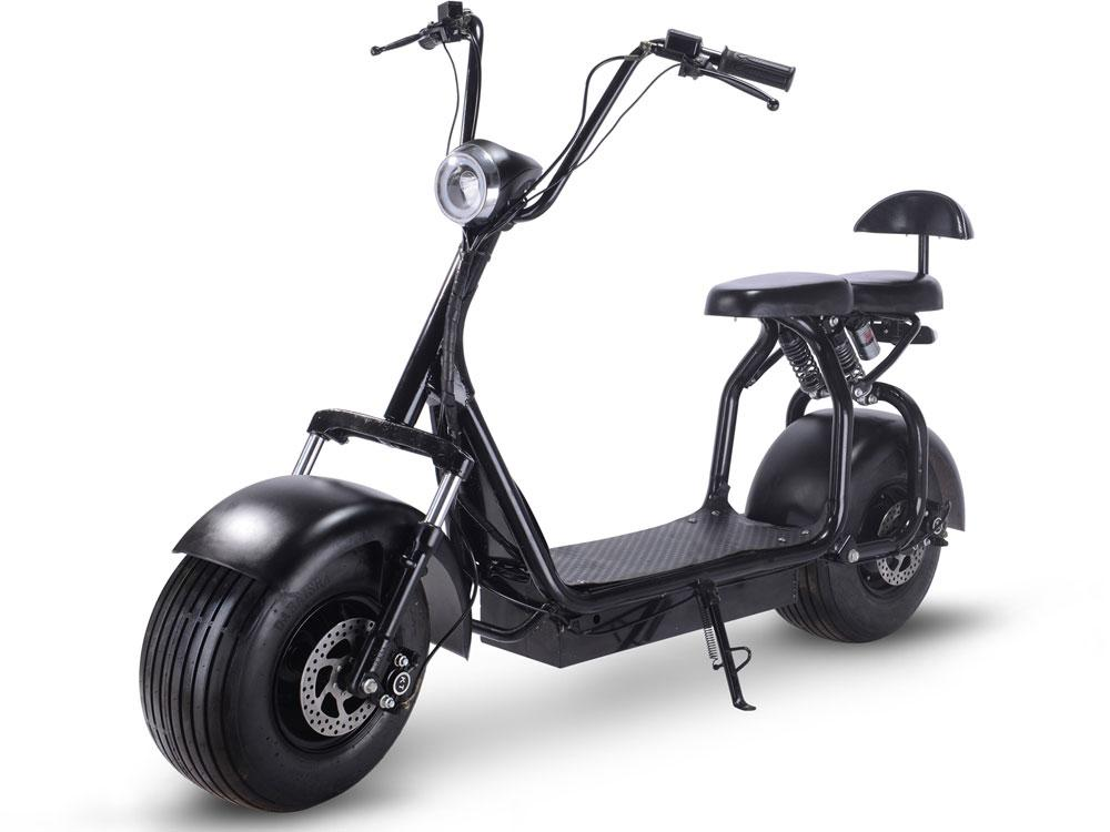 MotoTec Knockout 48v 1000w Kid's Ride-On Electric Scooter Black Electric Scooter MotoTec