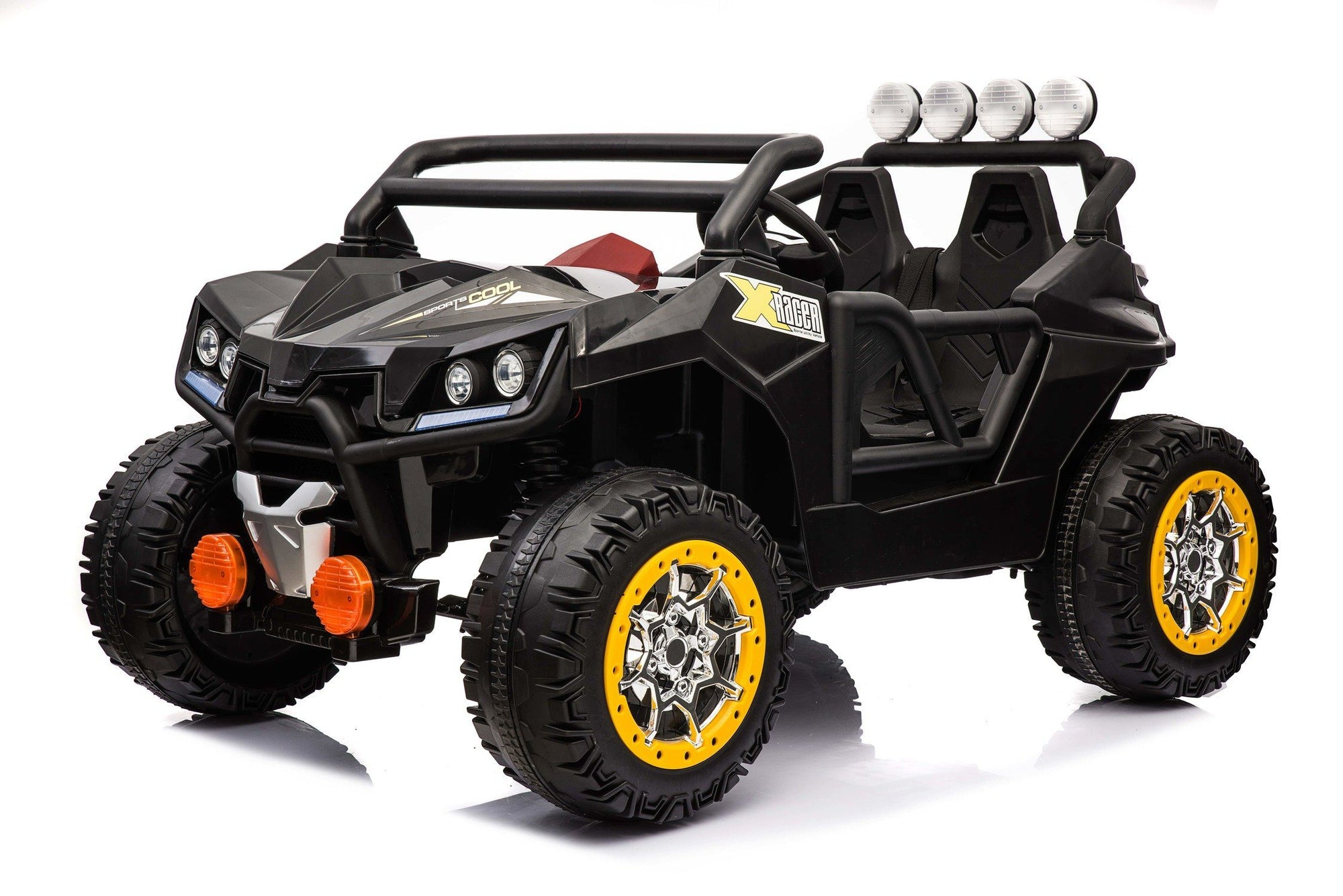 New 12v Electric Kids Ride-on Buggy ATV | Black with Yellow Wheels Quad Bikes Mini Motos