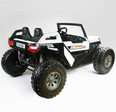 New 12v Electric Kids Ride-on Buggy ATV | White and Black Quad Bikes Mini Motos