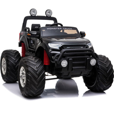 NEW 4x4 12V KID'S RIDE-ON MONSTER TRUCK WITH REMOTE CONTROL | BLACK Truck MotoTec