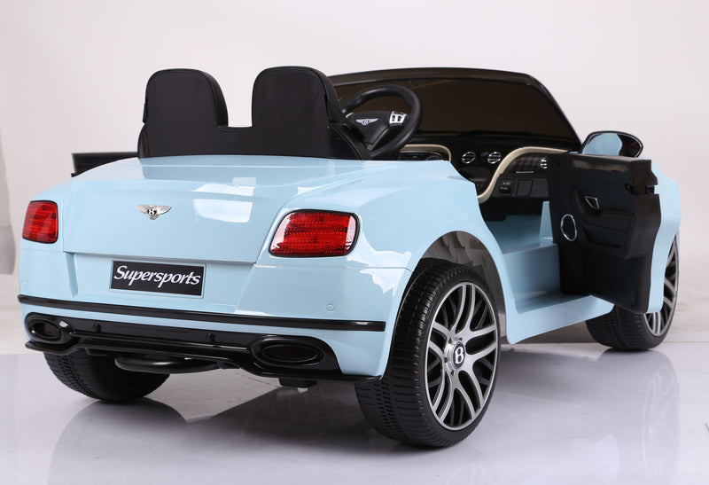 NEW BENTLEY CONTINENTAL SUPERSPORTS LICENSED 12V KIDS ELECTRIC RIDE-ON CAR WITH R/C PARENTAL REMOTE | BABY BLUE Cars & SUVs Mini Motos