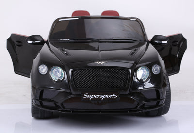 New Bentley Continental Supersports Licensed 12V Kids Electric Ride-On Car with R/C Parental Remote | Black Cars & SUVs Mini Motos